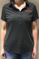 WOMEN SS STRIPED POLO UNDER ARMOUR